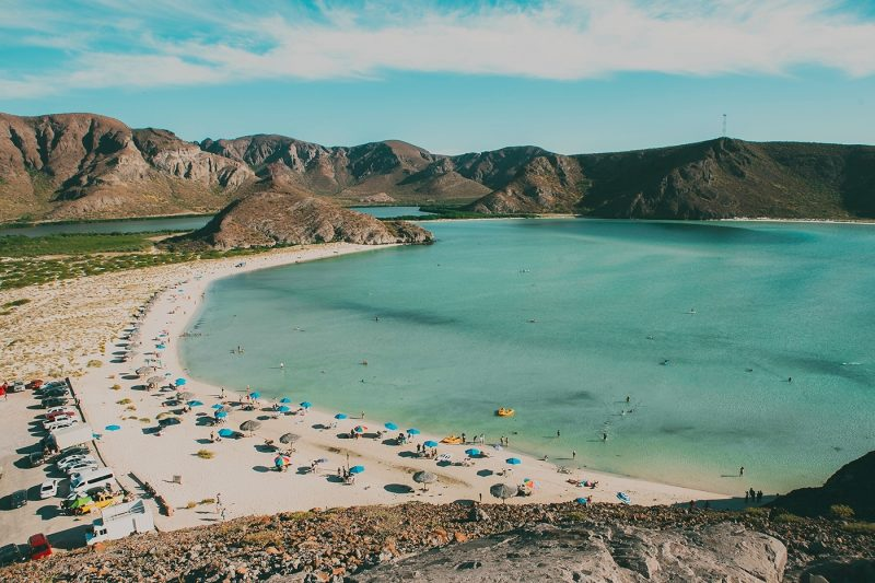 People on beach in Playa Balandra
