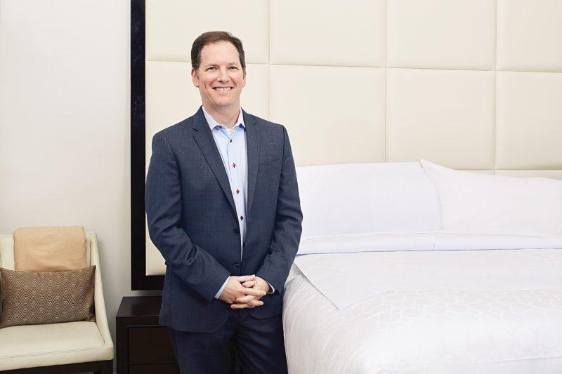 Dr Breus next to a Princess bed