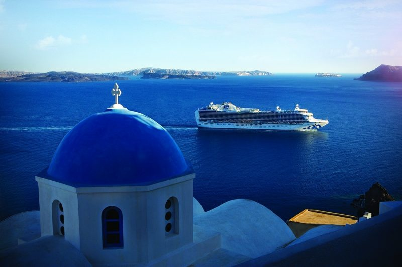 Emerald Princess in Santorini, Greece
