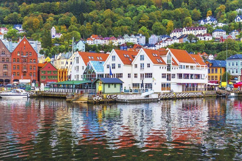Sea front Norway Bergen