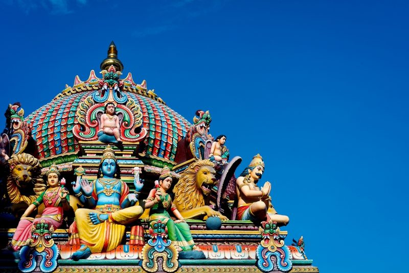 Detail Of The Sri Mariamman Temple, Singapore
