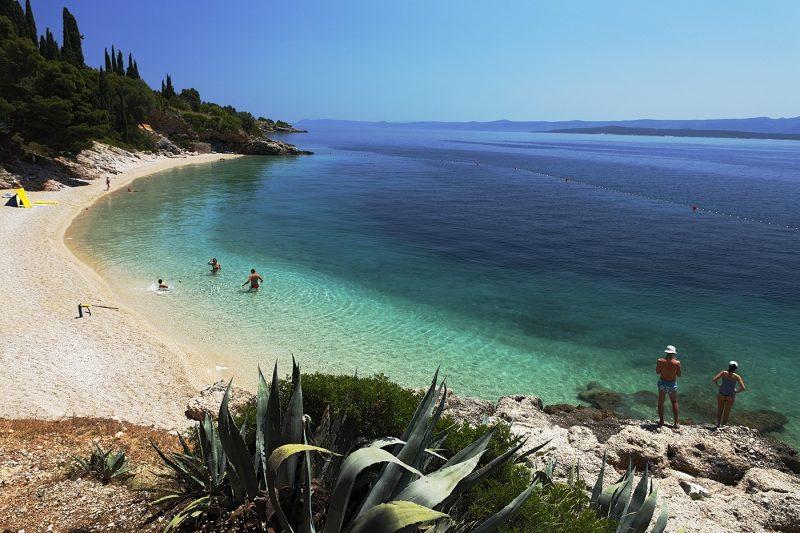 Beach in Split, Croatia