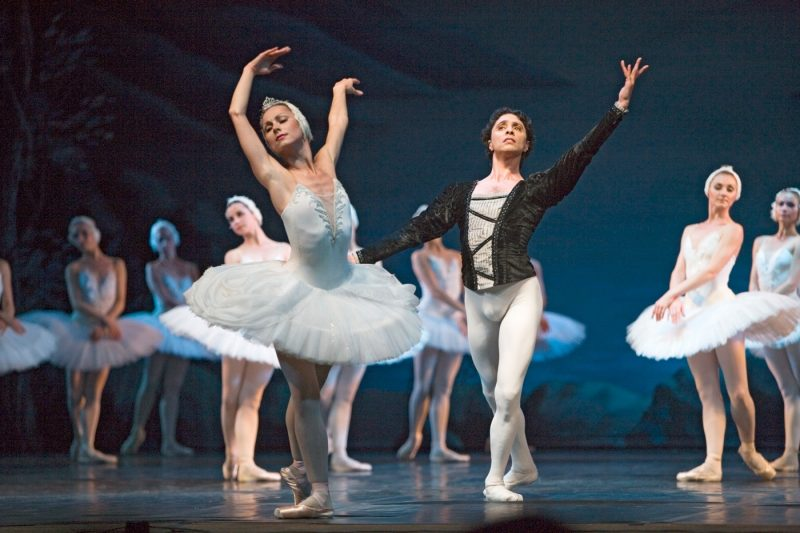 A performance of Swan Lake in the Conservatory theatre Saint Petersburg