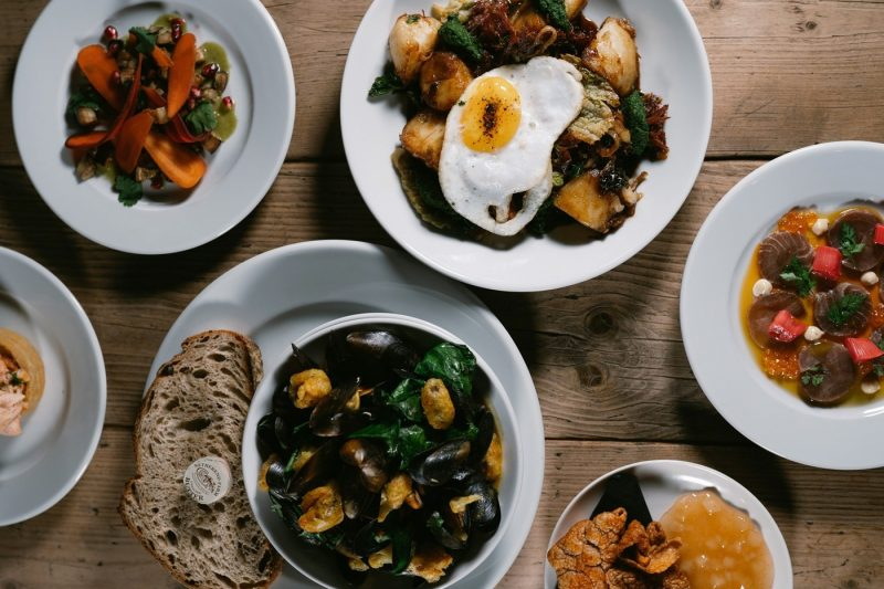 A selection of dishes from The Bridge Tavern in Newcastle
