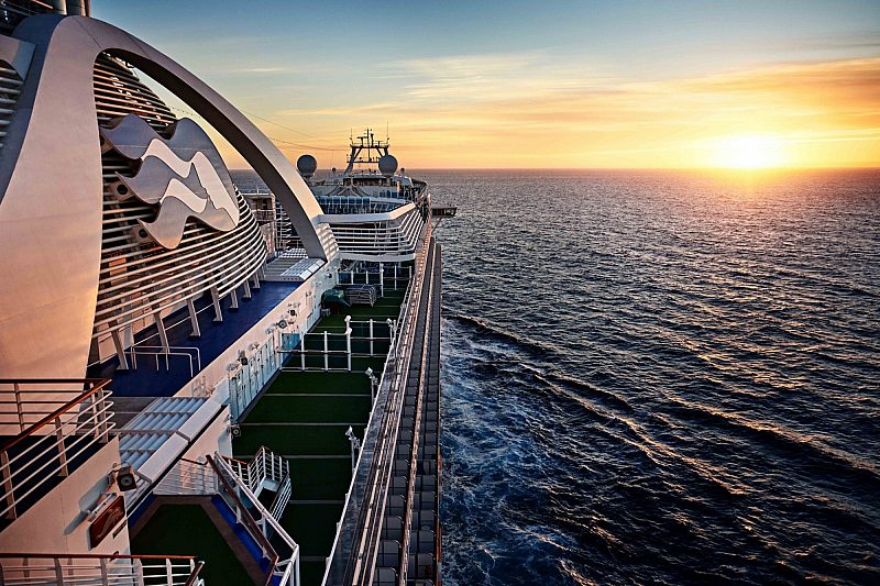 A sunset view as seen onboard a Princess ship