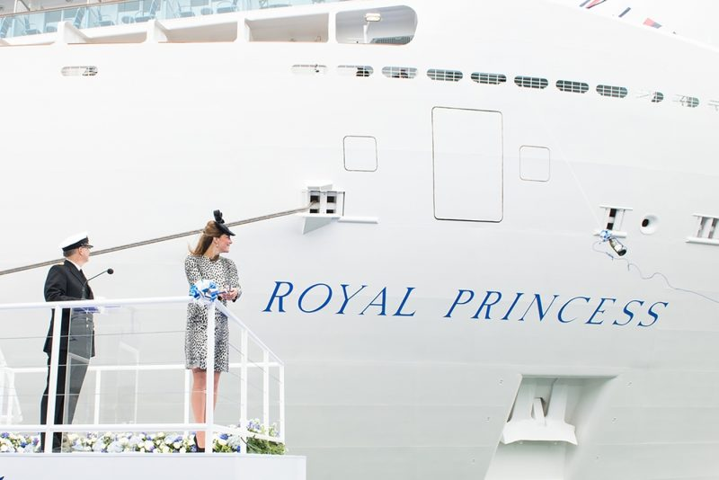 Kate Middleton at the godmother ceremony of Royal Princess