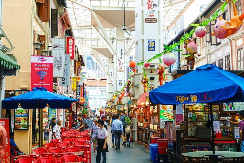 Singapore street food market