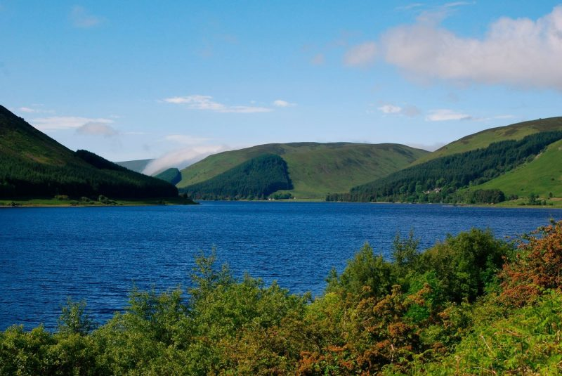 A view over St Marys Loch in Scotland