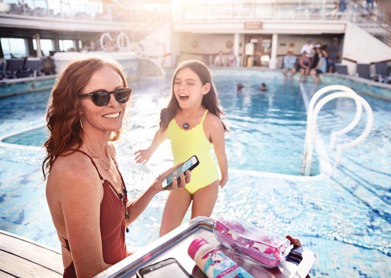 Mother Daughter at pool