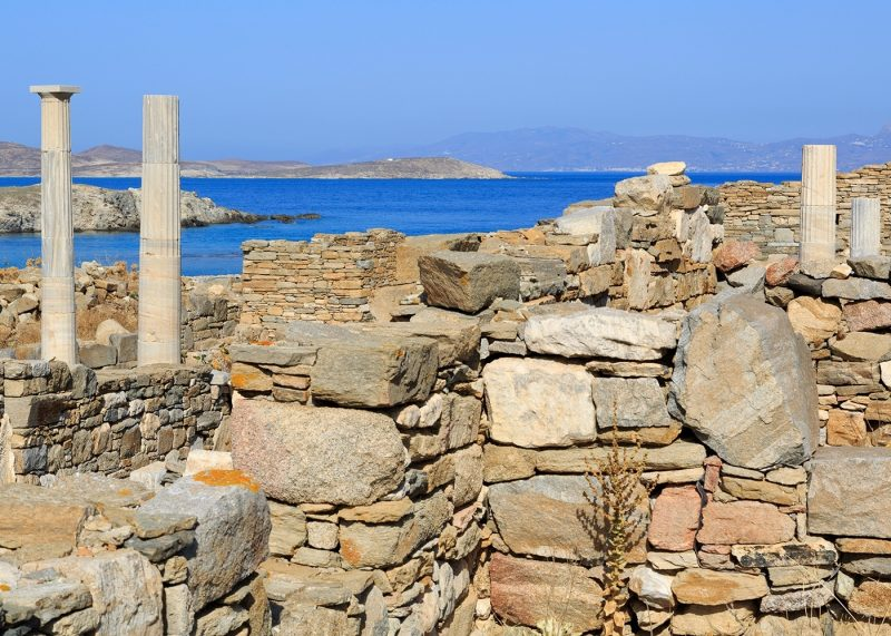 Delos archaeological ruins, UNESCO World Heritage Site, Delos
