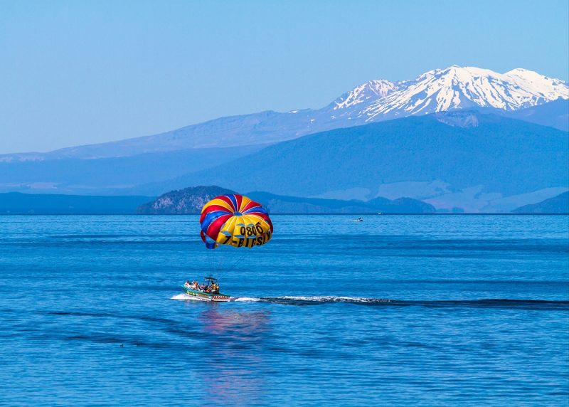 Waterskiing on Lake Taupo