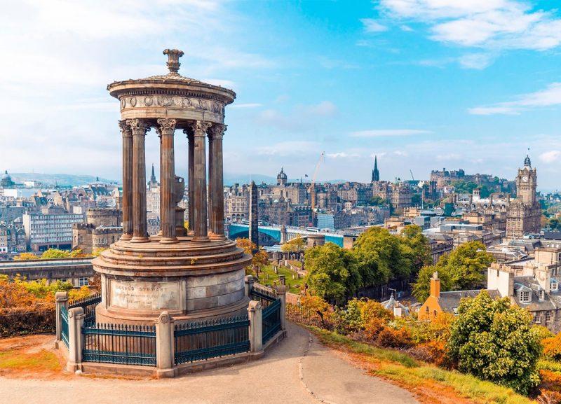 Calton Hill in Edinburgh Scotland