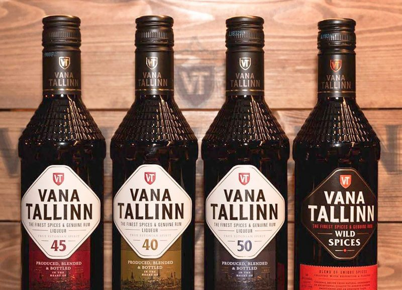 Four bottles of Vana Tallinn rum