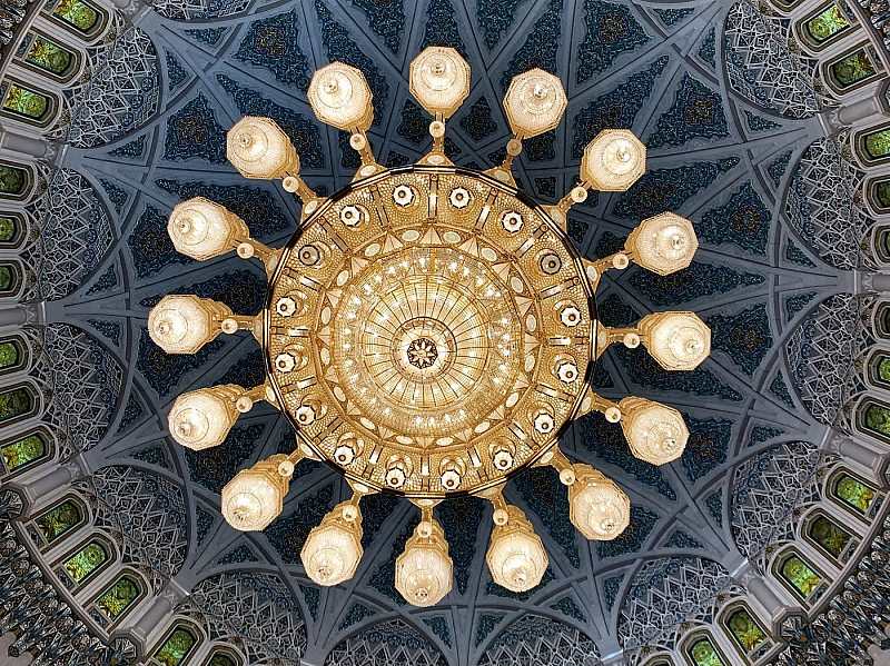 Grand Mosque Muscat ceiling