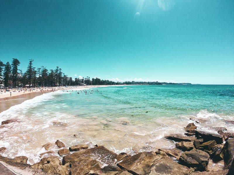 Sunny beach in Australia