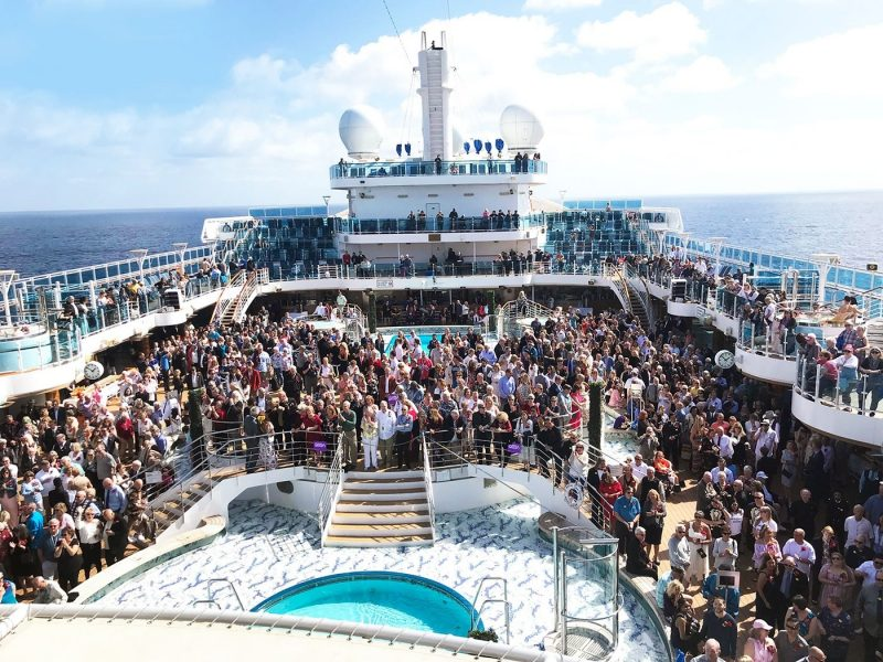 Record breaking vow renewal onboard Princess