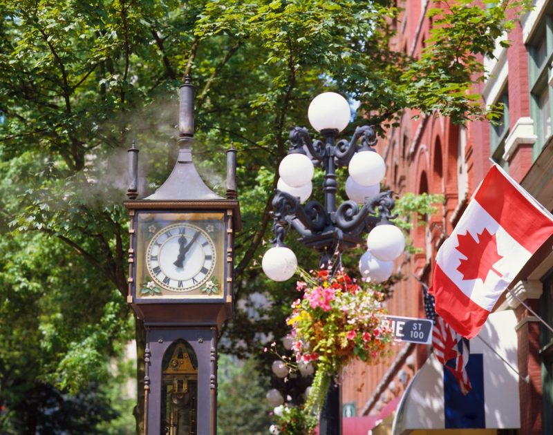 Gastown Steam Clock, the world's first steam powered clock, Gastown, Vancouver, British Columbia, Canada