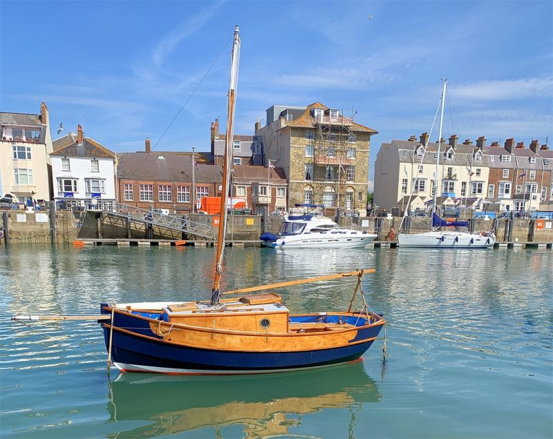 Boat in Weymouth harbour