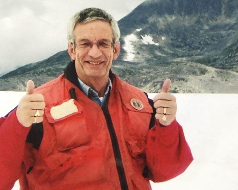 Princess passanger Roger Halfpenny in Alaska