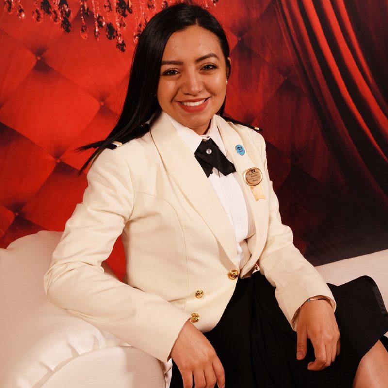 Crew member Daniela