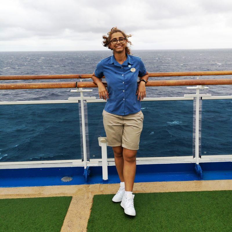 Crew member Mariane