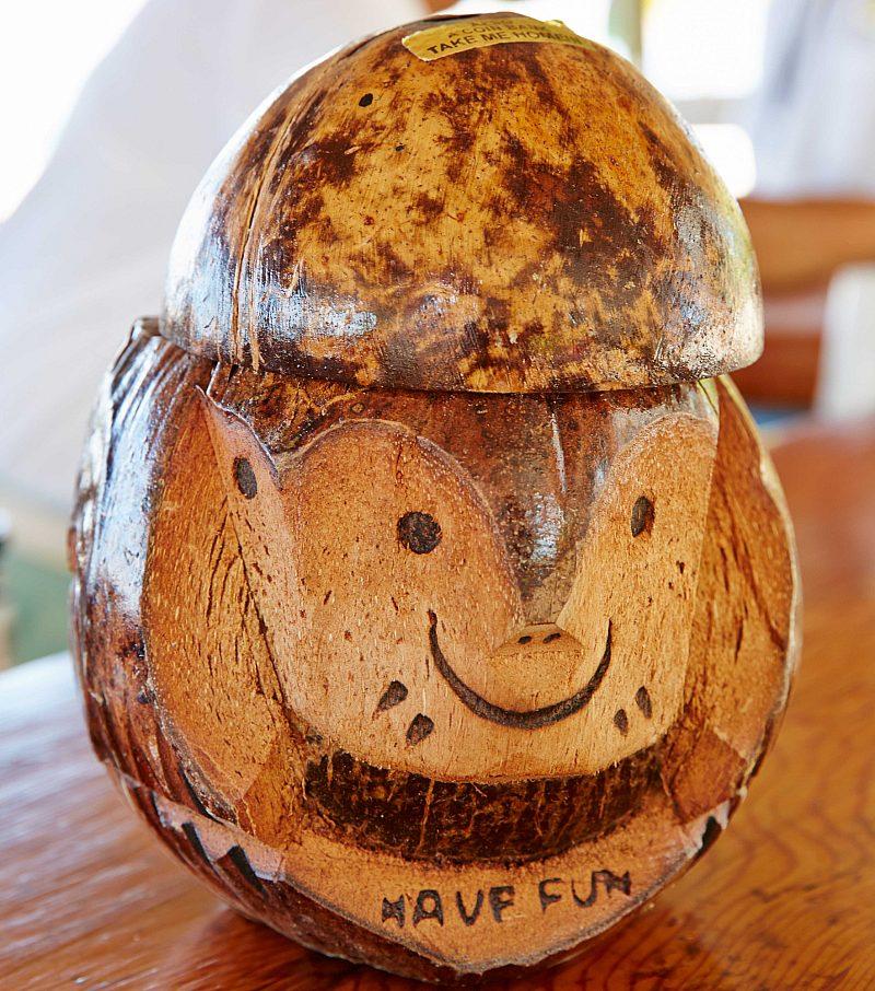 Wood statue Cayman