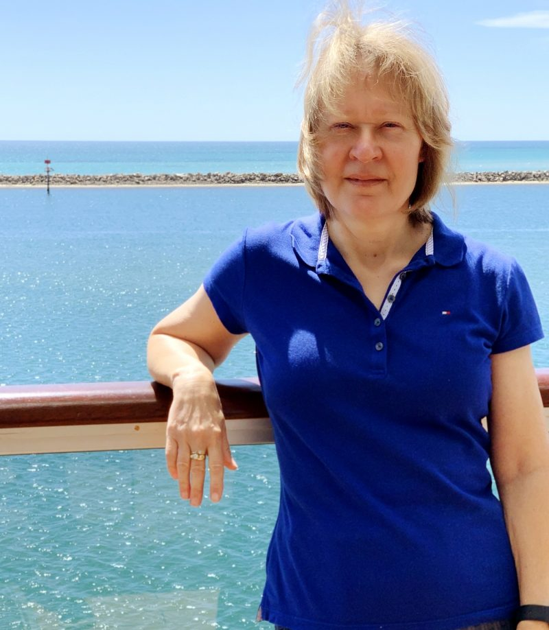 Amanda Donaldson onboard cruise