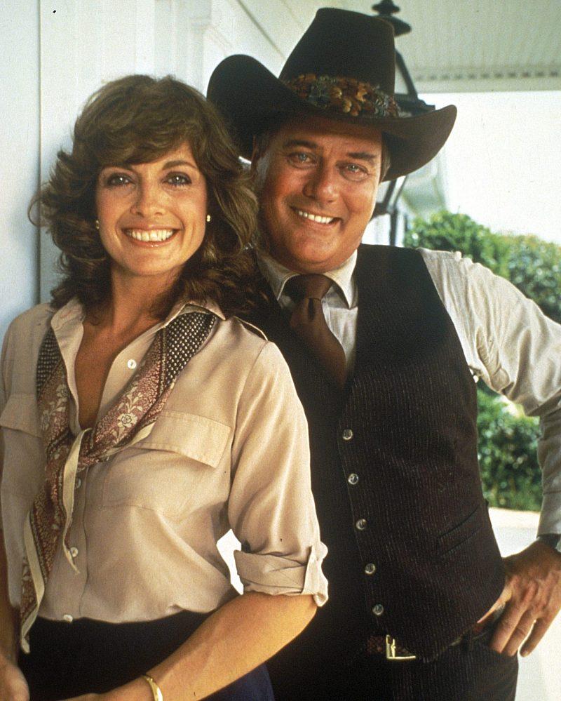 Linda Gray and Larry Hagman as seen in Dallas
