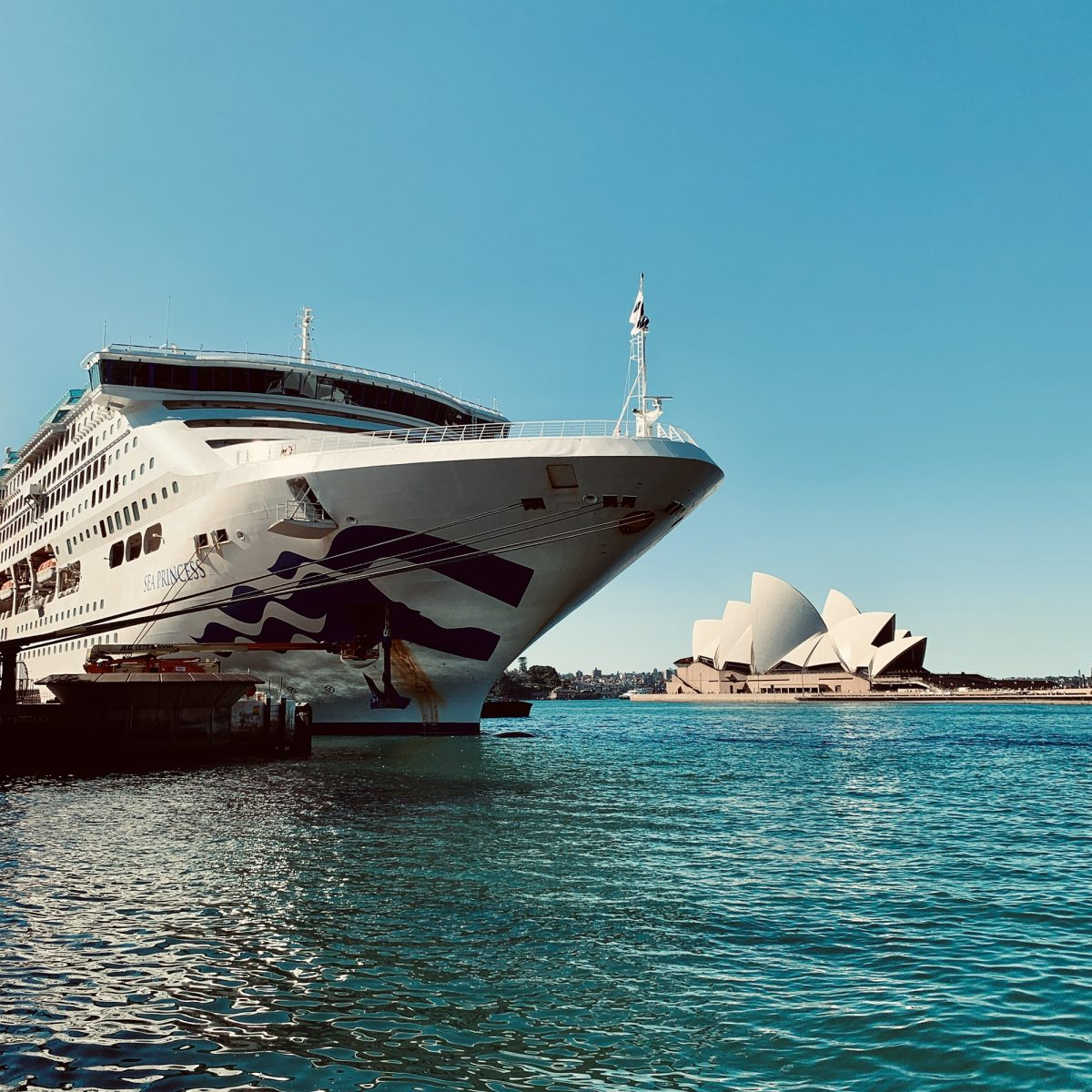 Sea Princess starting her voyage across the world from Sydney