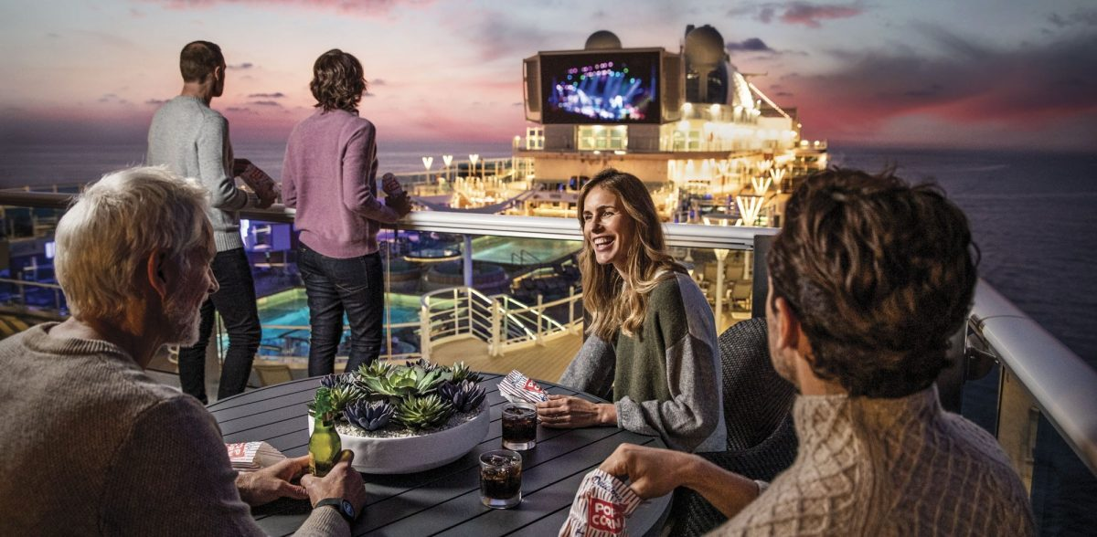Movies Under the Stars onboard Sky Princess with Princess Cruises
