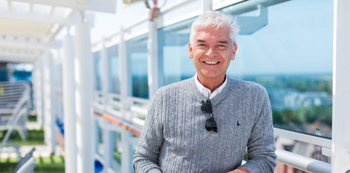 Phillip Schofield on board Regal Princess