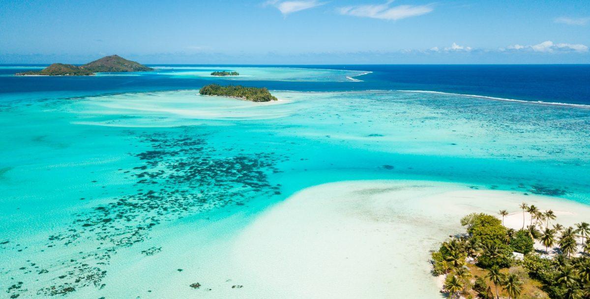 Bora Bora island in Tahiti French Polynesia South Pacific Ocean