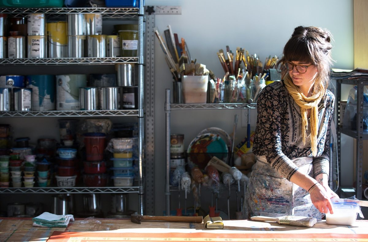 Addie Peet, a New England creative in her studio