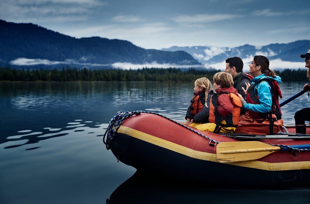 Family on cruise in Alaska