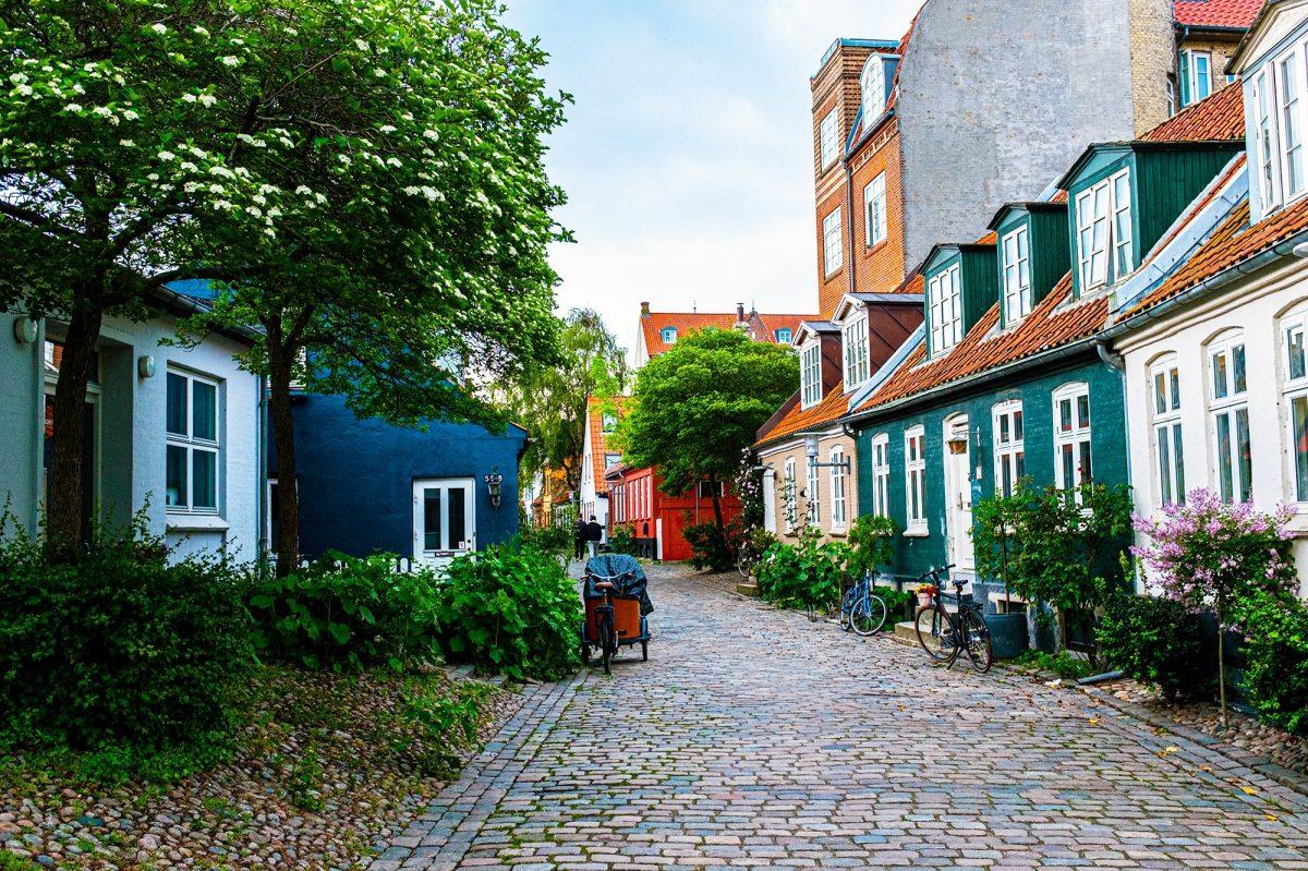 Street in Møllestien, Aarhus, Denmark