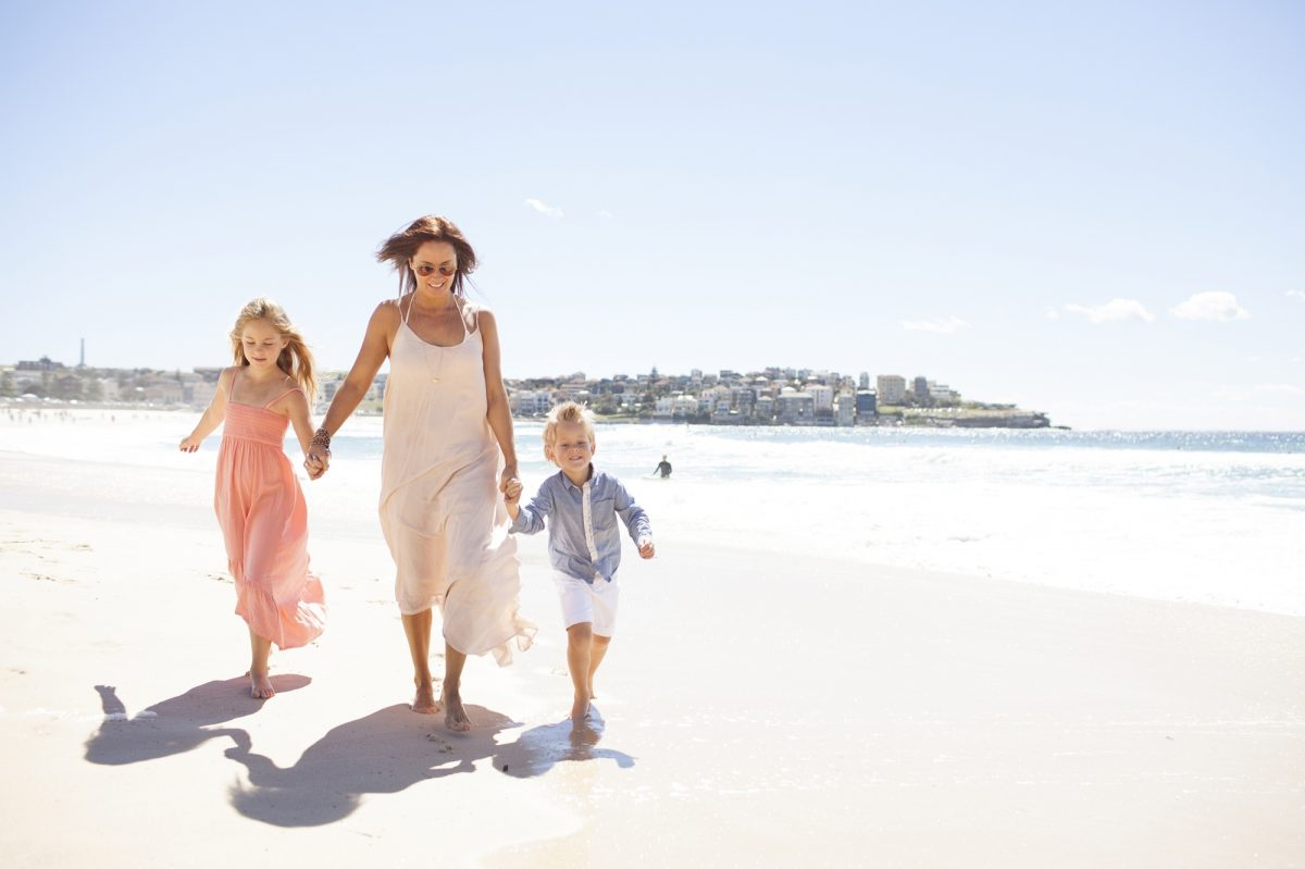 Family on Bondi Beach, Australia