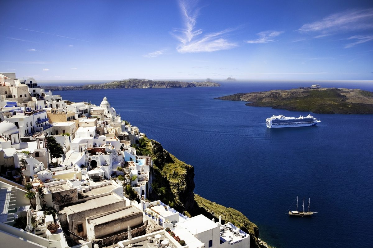 Emerald Princess in Santorini