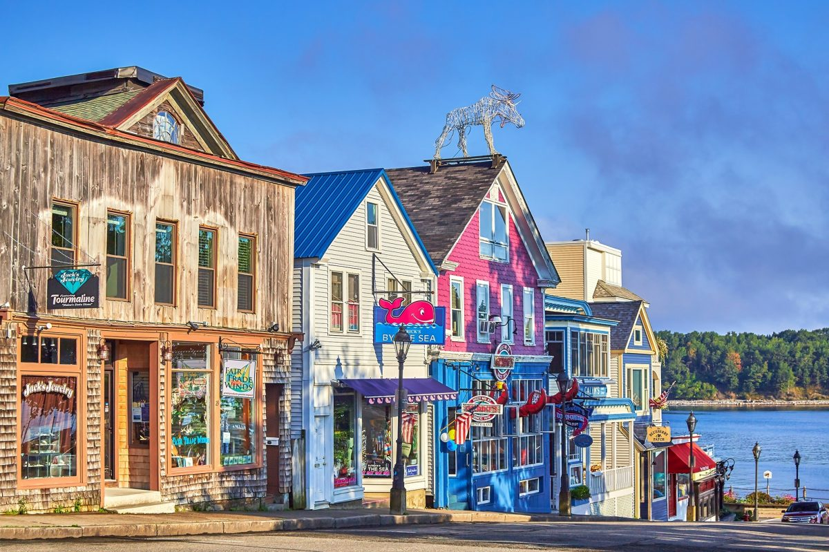 Row of shops in Maine