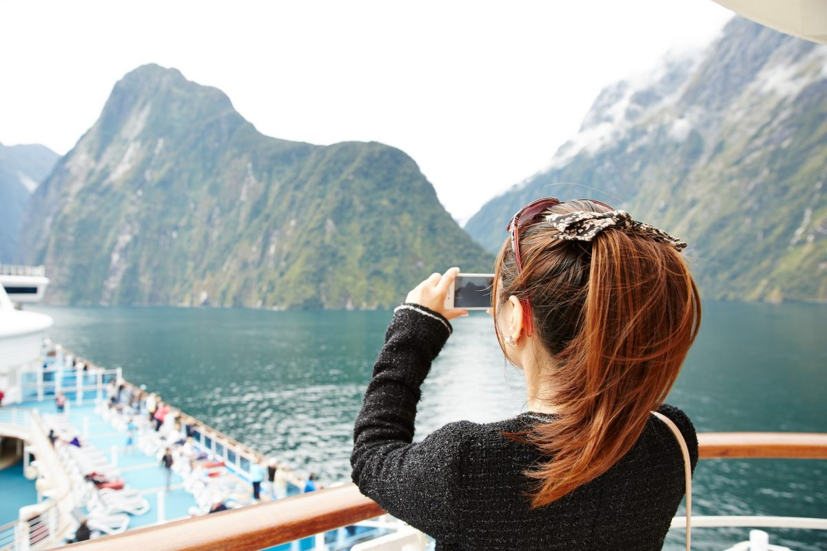 Taking pics on deck