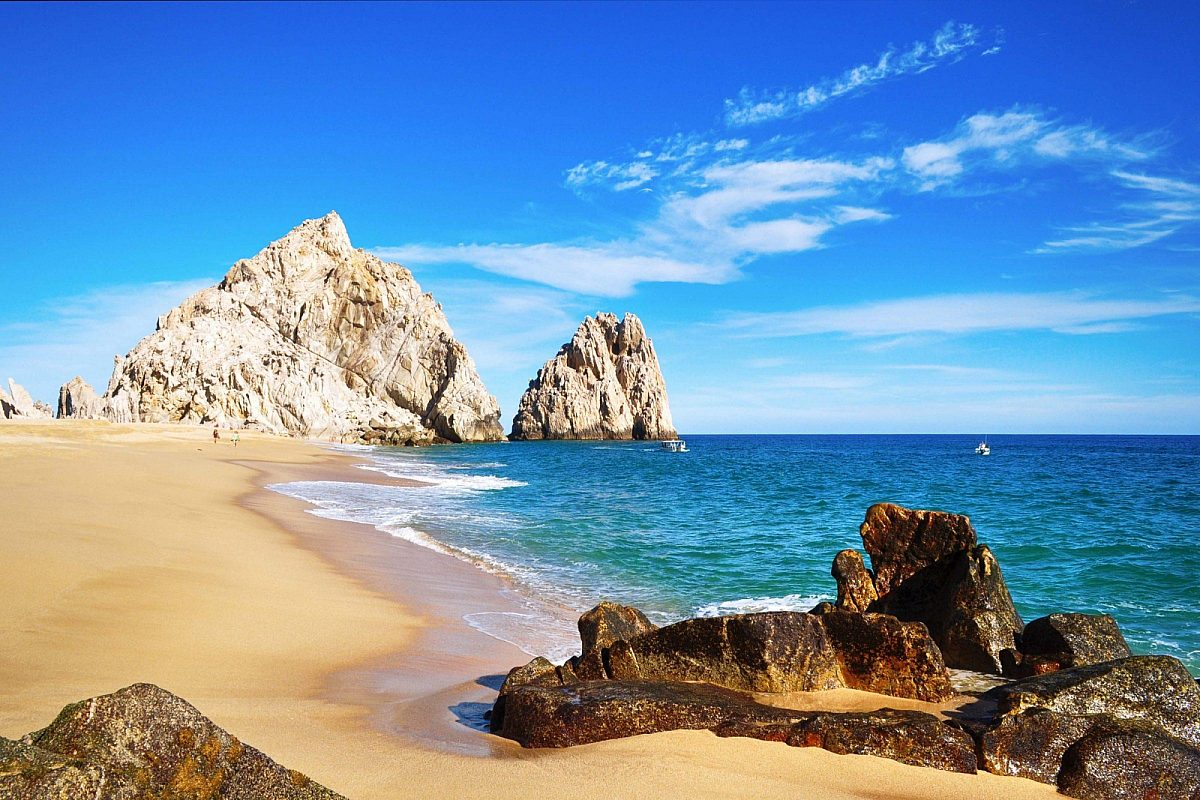 Lovers Beach (Playa del Amor) in Cabo San Lucas, Los Cabos, Mexico