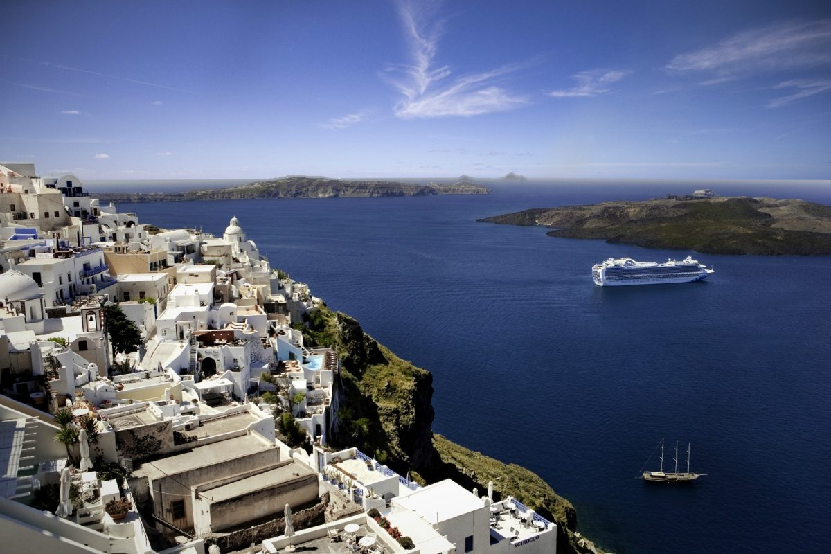 Emerald princess santorini greece