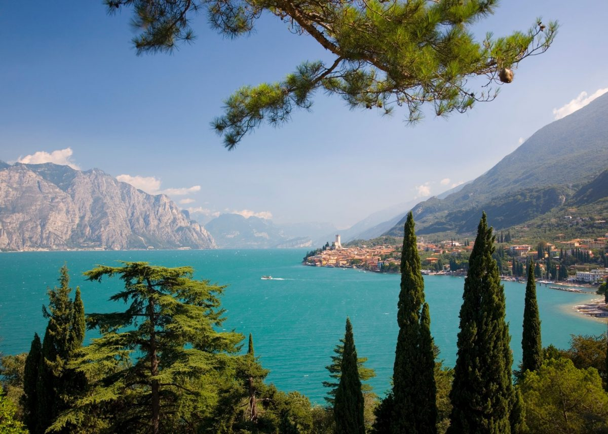 A view over the turquoise waters of Lake Garda, Italy