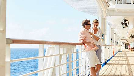 Couple enjoying time on a Princess ship deck