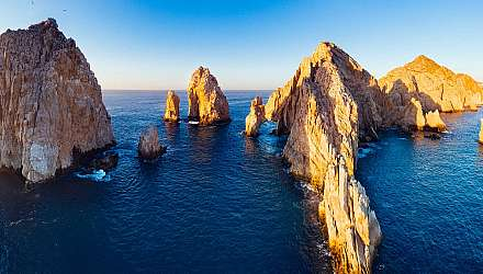 Cabo San Lucas rocks and sea