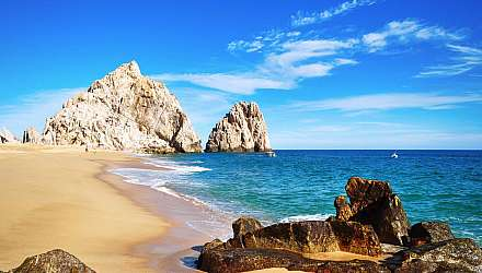Lovers Beach (Playa del Amor) in Cabo San Lucas, Los Cabos, Mexico
