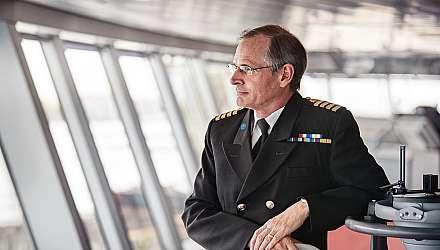 Captain Nick Nash onboard Princess ship