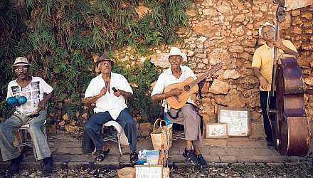 A local band in the Caribbean playing music