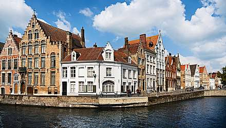 Buildings on the waterfront in Bruges