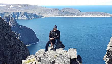 Enrique on North Cape