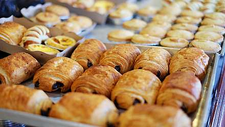 Pain au Chocolate in bakery